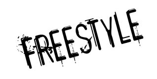 Freestyle rubber stamp Stock Image