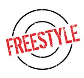 Freestyle rubber stamp Royalty Free Stock Image