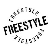 Freestyle rubber stamp Royalty Free Stock Photo