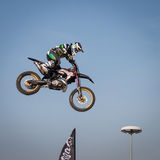 Freestyle show at EICMA 2013 in Milan, Italy Stock Image
