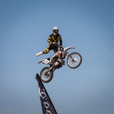 Freestyle show at EICMA 2013 in Milan, Italy Royalty Free Stock Image