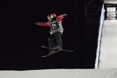 Freestyle Ski Race during Big Air Milan. Stock Images