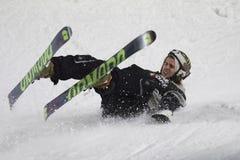 Freestyle Ski Race during Big Air Milan. Royalty Free Stock Photo