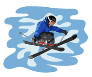 Freestyle ski Stock Photo