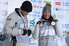 Freestyle Ski World Cup Stock Images