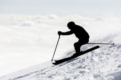 Freestyle skier silhouette Stock Photo