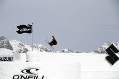 Freestyle skier royalty free stock images