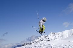 Freestyle skiing Royalty Free Stock Image