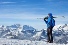 Freestyle skiing Royalty Free Stock Photos
