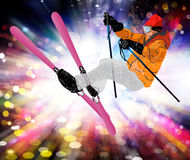 Freestyle Skiing Stock Photography