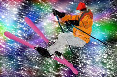 Freestyle Skiing Royalty Free Stock Photography