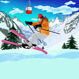 Freestyle Skiing Royalty Free Stock Photo