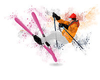 Freestyle Skiing Stock Images