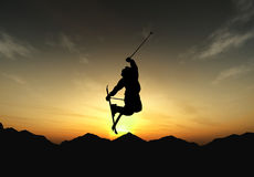 Freestyle in sunset Royalty Free Stock Photography