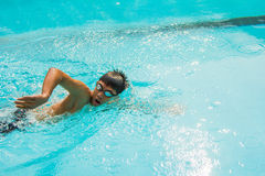 Freestyle swimming Royalty Free Stock Images