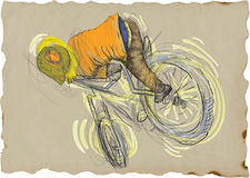 Freestyle trick - bicycle Royalty Free Stock Photography