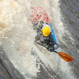Freestyle on whitewater Royalty Free Stock Photography