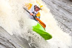 Freestyle on whitewater Royalty Free Stock Images