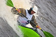 Freestyle on whitewater Stock Photos