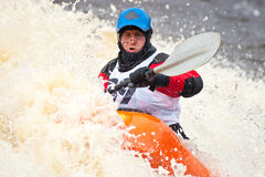 Freestyle on whitewater Stock Photo