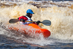 Freestyle on whitewater Stock Image