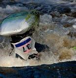 Freestyle on whitewater Royalty Free Stock Photo