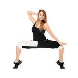 Woman dancer royalty free stock photo