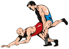 Freestyle wrestling Stock Image