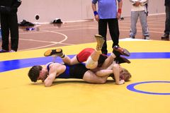 Freestyle Wrestling Challenge Stock Images