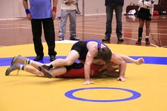 Freestyle Wrestling Challenge Stock Photos