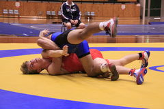 Freestyle Wrestling Meet Stock Photography