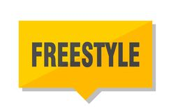 Freestyle price tag. Freestyle yellow square price tag Stock Image
