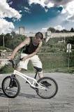 Freestyler de BMX Fotos de archivo libres de regalías