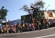 Freesyle da bicicleta Foto de Stock