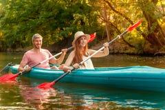 Freetime activities on water Stock Photos