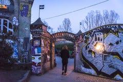 Freetown Christiania, Kopenhagen, Denemarken stock foto's