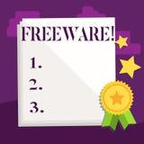 Freeware del texto de la escritura Aplicación de software del significado del concepto que está disponible para el uso en ningún  libre illustration