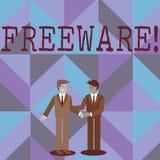 Freeware del texto de la escritura de la palabra Concepto del negocio para la aplicación de software que está disponible para el  stock de ilustración