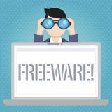 Freeware del texto de la escritura de la palabra Concepto del negocio para la aplicación de software que está disponible para el  ilustración del vector