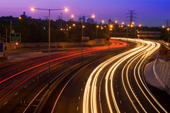 Freeway. Shot at dusk of a Melburne freeway stock image