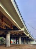 Freeway. Under the bridge (HDR technology image Royalty Free Stock Photos