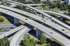 Freeway Aerial Stock Photo