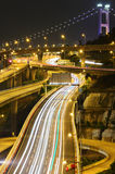 Freeway and bridge Royalty Free Stock Images