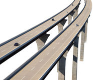 Freeway Bridge Isolation with Cars Stock Images