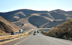 Freeway in Califronia Royalty Free Stock Photos