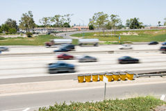 Freeway and cars Stock Photography