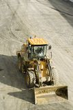Freeway construction;bulldozer Stock Image