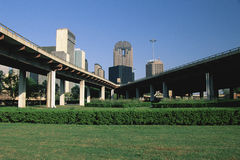 Freeway in Dallas Royalty Free Stock Photos