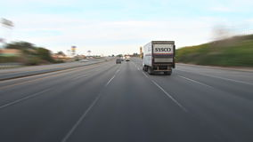 Freeway driving in california stock footage