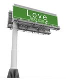 Freeway Exit Sign love Royalty Free Stock Images
